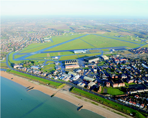 aerial view of Solent Enterprise Zone at Daedalus