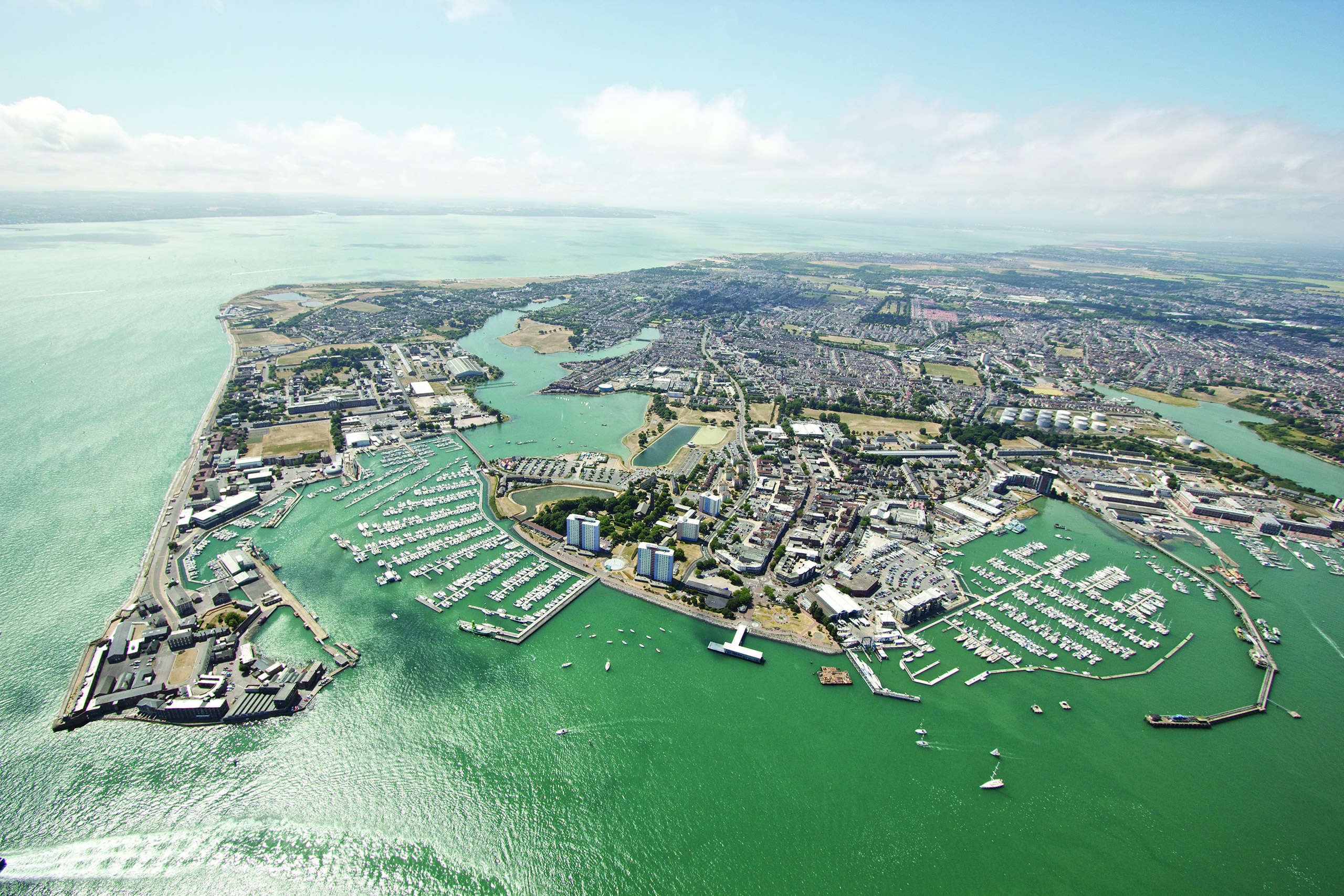 aerial view of Gosport waterfront