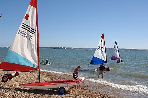 sailing at Stokes Bay